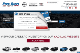 Five Star Chevrolet Cadillac Buick Gmc reviews and complaints