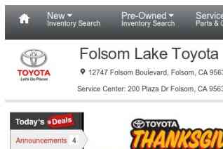 Folsom Lake Toyota reviews and complaints