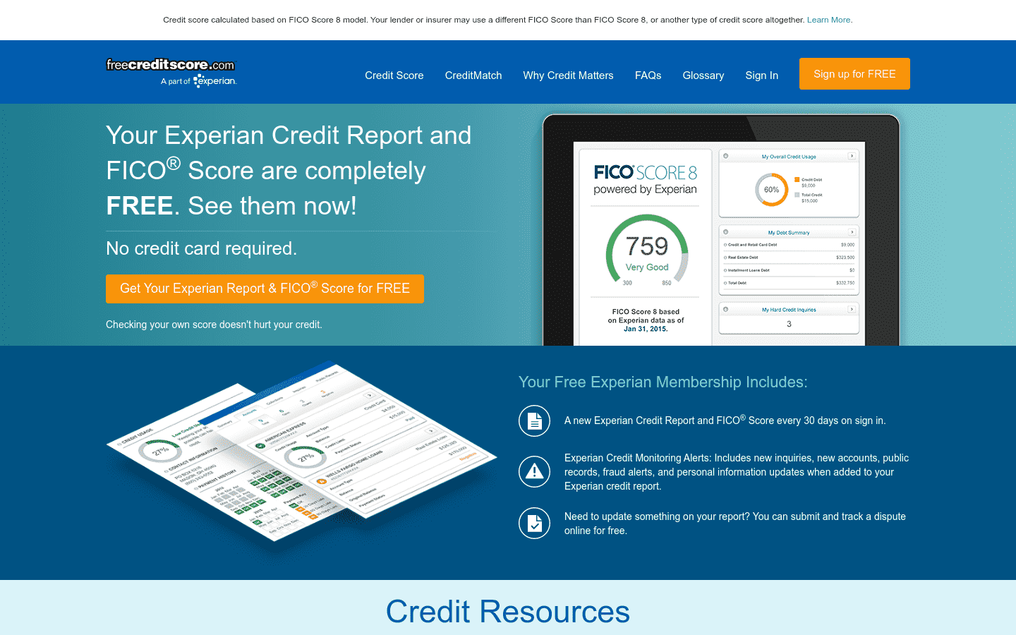 Free Credit Score reviews and complaints