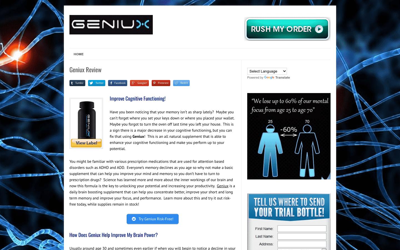 Geniux reviews and complaints