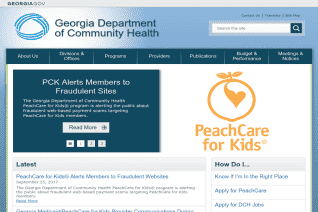 Georgia Department Of Community Health reviews and complaints