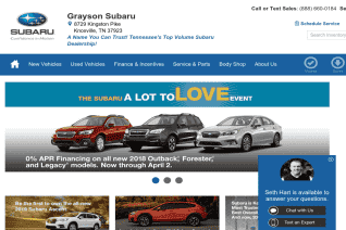 Grayson Subaru reviews and complaints