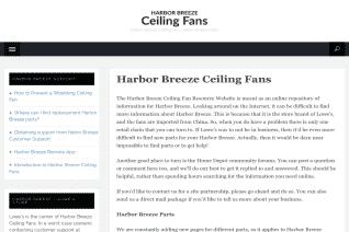 Harbor Breeze reviews and complaints