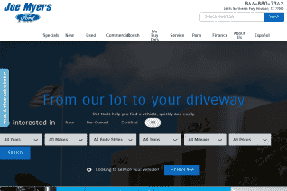 Joe Myers Ford reviews and complaints