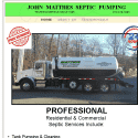 John Matthes Septic Pumping reviews and complaints