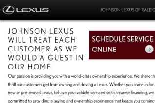 Johnson Lexus of Raleigh reviews and complaints