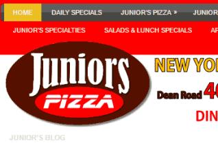 Juniors Pizza reviews and complaints