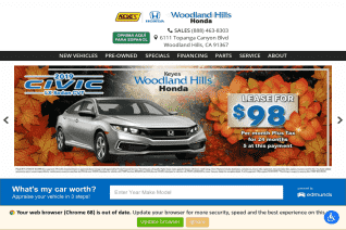 Keyes Woodland Hills Honda reviews and complaints