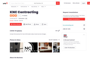 Knc Contracting reviews and complaints