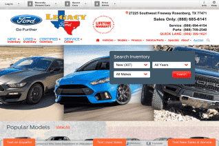 Legacy Ford reviews and complaints