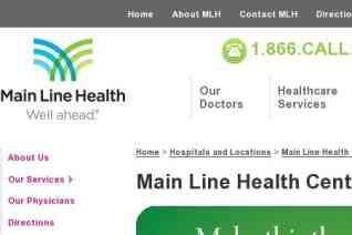 Main Line Health Center reviews and complaints