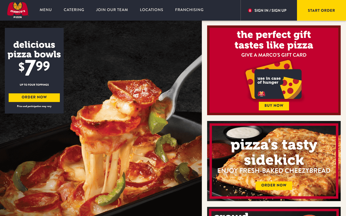 Marcos Pizza reviews and complaints