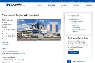 Memorial Regional Hospital reviews and complaints