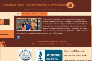 Mountain Area Recommended Contractors reviews and complaints
