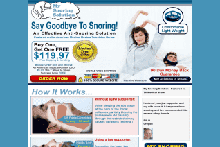 My Snoring Solution reviews and complaints