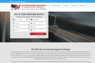 Nationwide Moving reviews and complaints