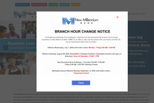 New Millennium Bank reviews and complaints