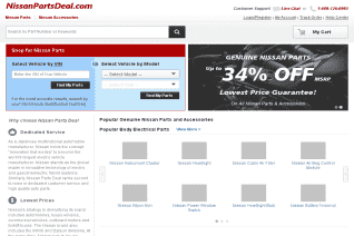 Nissan Parts Deal reviews and complaints