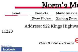 Norms Music Store reviews and complaints