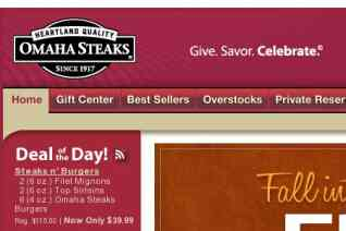 Omaha Steaks reviews and complaints