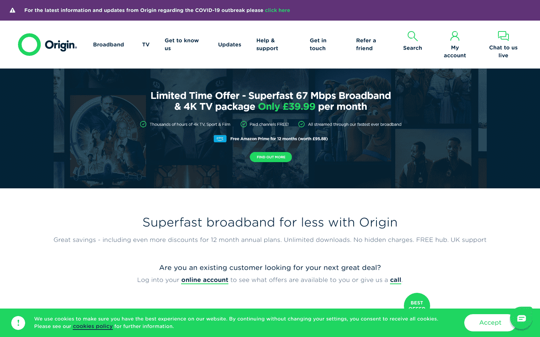Origin Broadband reviews and complaints
