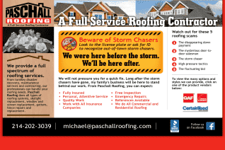 Paschall Roofing reviews and complaints