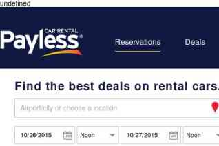 Payless Car Rental reviews and complaints