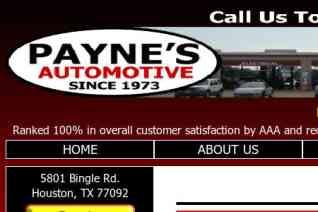 Paynes Automotive reviews and complaints