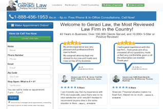 Peter Francis Geraci Law reviews and complaints
