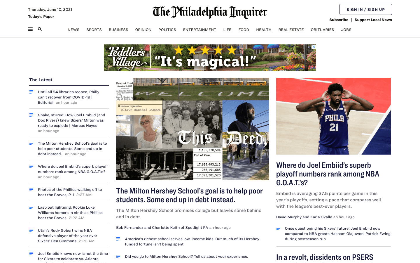 Philadelphia Inquirer reviews and complaints