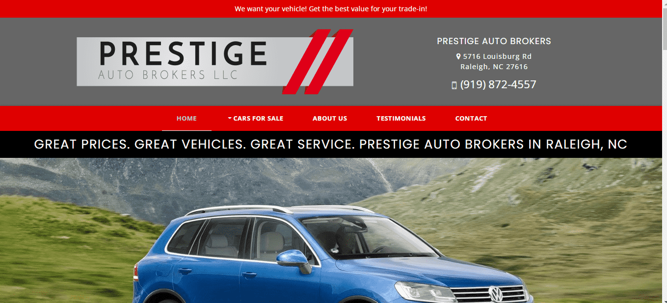 Prestige Auto Brokers of Raleigh reviews and complaints