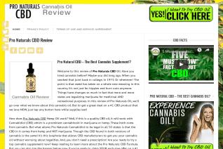 Pro Naturals CBD reviews and complaints