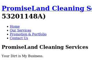 Promiseland Cleaning Services reviews and complaints