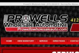 Prowells Wholesale Automotive reviews and complaints