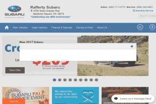Rafferty Subaru reviews and complaints