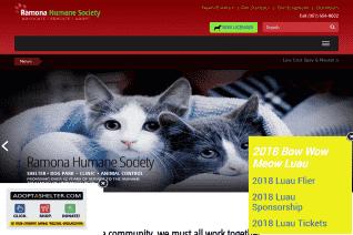 Ramona Humane Society reviews and complaints