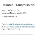 Reliable Transmission reviews and complaints