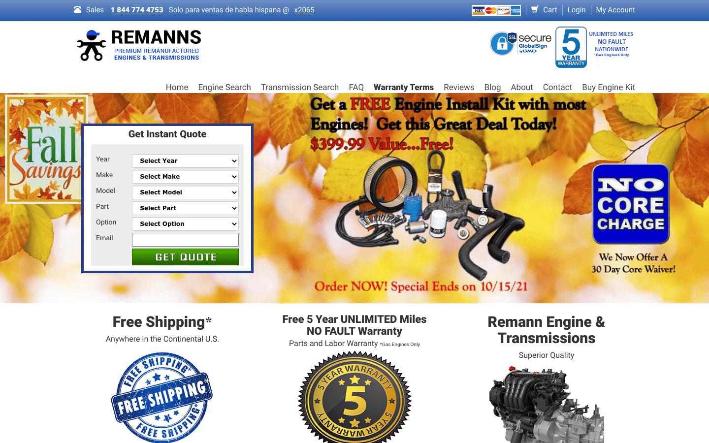 Remanns Engine reviews and complaints