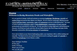 Rocky Mountain Ponds And Waterfalls reviews and complaints