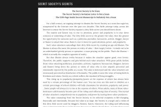 Secret Societys Secrets reviews and complaints