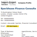 Sperblease Finance Consults reviews and complaints