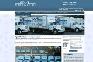 Sprint Van Lines reviews and complaints