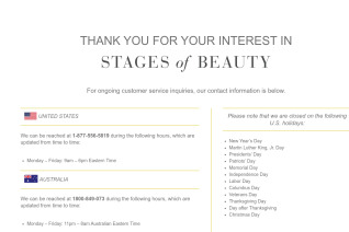 Stages of Beauty reviews and complaints