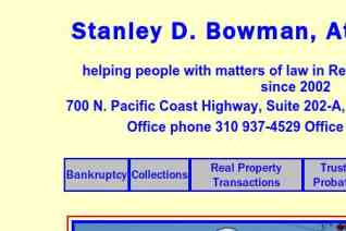 Stanley D Bowman Attorney At Law reviews and complaints