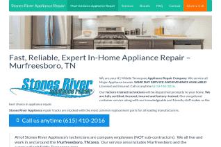 Stones River Appliance Repair reviews and complaints