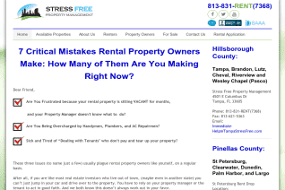 Stress Free Property Management reviews and complaints