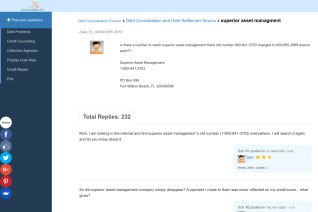 Superior Asset Management reviews and complaints