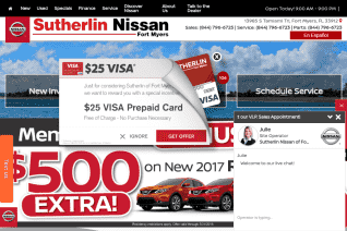 Sutherlin Nissan Of Fort Myers reviews and complaints