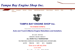 Tampa Bay Engine Shop reviews and complaints