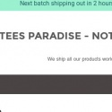 Tees Paradise reviews and complaints